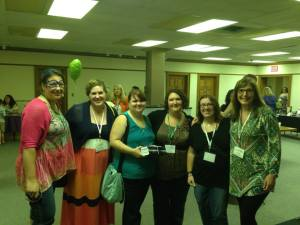 Me with some super amazing gals!  I heart each of these authors!