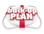 Back-Up Plan Life Preserver Words Alternate Planning B